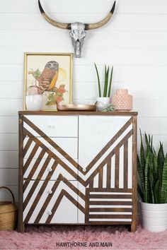 This thrift store dresser was so drab and outdated. I cannot believe the transformation...you have got to see the before! The tutorial is awesome too.