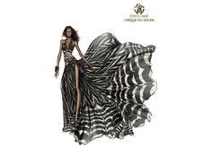 Haute Couture fashion designer Roberto Cavalli created an exclusive item inspired by the wild majesty of Africa. Fashion Illustration Sketches, Fashion Sketchbook, Fashion Design Sketches, Roberto Cavalli, Short Girl, Ethno Style, Mannequins, Designs To Draw, Fashion Art