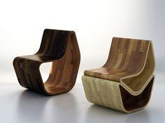 Cadeira GVAL – Duas ottomans em uma cadeira :: Rodrigo Barba