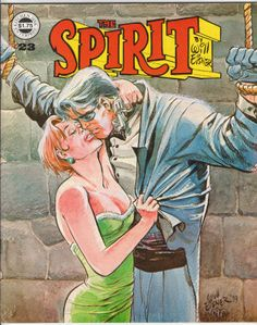 "The Spirit Magazine #23, February 1980, NM, Wraparound cover by Eisner, 5 Spirit stories by Will Eisner reprinted from 1941-52, 1st Silk Satin appearance rep, 4th ""Outer Space"" Spirit story with art by Wally Wood, new Life On Another Planet, Chapter 5 by Eisner, The Spirit Checklist Part 2. $33.60"