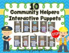 Looking for a fun way to introduce and/or review community helpers?Want a craftivity that can be modified several ways to best fit what your