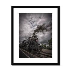 Steam & Rollin Framed & Mounted Print – Trigger Image Buy Prints, Prints For Sale, Us Images, Fine Art Paper, Satin Finish, Clean Lines, Window, Surface, Frame