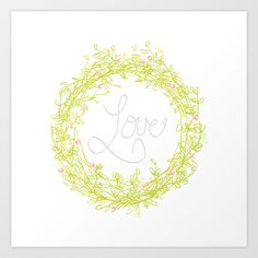 Love is in the air Art Print by TypeArtist - $15.00