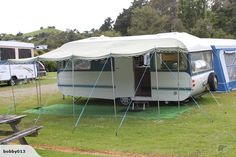Our caravan with awning