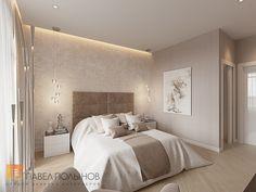 Фото интерьер спальни из проекта «Интерьер однокомнатной квартиры в современном стиле»