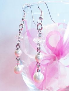 Christmas Wedding Quartz Crystal White Swarovski by CinfulDesigns, $35.00
