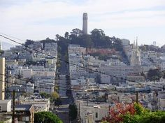 Coit Tower and Nob Hill in the distance. One of my favorite spots in the city!