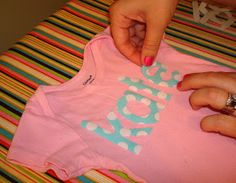 How I make my applique letters