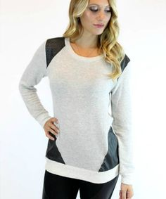 Ellie Sweater in Heather Grey | Vintage Havana by Vamped Boutique