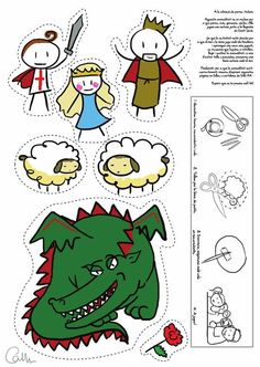 Dragon cut outs. St Georges Day, Saint Georges, Diy For Kids, Crafts For Kids, Arts And Crafts, Library Activities, Activities For Kids, Dragons, Kindergarten