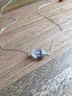 Herkimer Diamond Necklace - Raw Crystal Necklace - April Birthstone - Herkimer Diamond - Diamond Jewelry - April Birthstone Necklace by CatchingWildflowers on Etsy https://www.etsy.com/listing/473482102/herkimer-diamond-necklace-raw-crystal