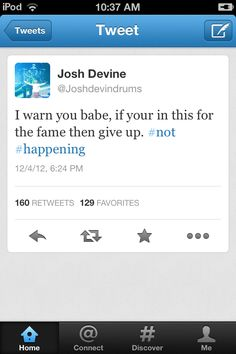 See? Even Josh doesn't ship Haylor!