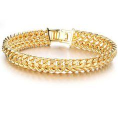Jewelry K Gold Jewelry Super Classic Boys Bracelet KS Texture