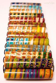Gorgeous beads www.flickr.com  Polymer clay