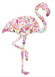 Flamingo made of flamingos!