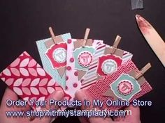 ▶ Paper Stack Treat Favors - YouTube very cute and small!