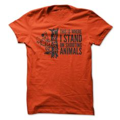 View images & photos of Where I Stand On Shooting Animals t-shirts & hoodies
