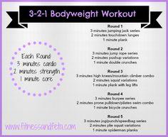 3-2-1 bodyweight workout – Achieve with Athena