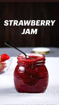 Jelly Recipes, Fruit Recipes, Easy Jam Recipes, Home Canning Recipes, Cooking Recipes, Strawberry Jam Recipe, Strawberry Jelly, Pots, Dandelion Recipes