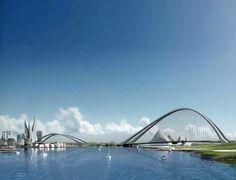 The Dubai Creek Bridge, Dubai, United Arab Emirates - W Architecture and Landscape Architecture #bridge