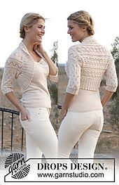 "Ravelry: 139-5 ""Akropolis"" - Bolero with crochet edge in ""BabyAlpaca Silk"" pattern by DROPS design"