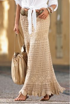 boho crocheted skirt