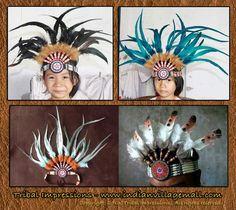 Handmade Aztec Style Headbands From tribal Impressions- www.indianvillagemall.com
