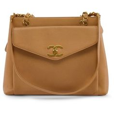 9d3349bba2 Chanel Camel Caviar Leather Vintage Shoulder Bag (1