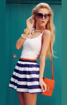 453a58556c4a Cute Blue White Vest Dress on Luulla