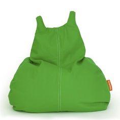 Sitzsack für Kinder, grün, Happy Cat, Baumwolle