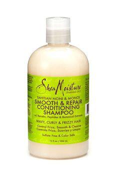 Shea Moisture Tahitian Noni & Monol Smooth Repair Conditioning Shampoo-13Oz