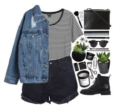 """""""Outfit 197"""" by holass ❤ liked on Polyvore featuring Giuseppe Zanotti, Monki, One Teaspoon, The French Bee, H&M, BCBGMAXAZRIA, GHD, Space NK, Surratt and Napoleon Perdis"""