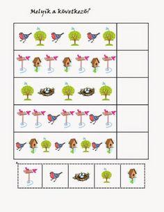 birds pattern for kıds Free Preschool, Preschool Worksheets, Preschool Learning, Educational Activities, Activities For Kids, Hidden Picture Puzzles, Pattern Worksheet, Hidden Pictures, Bird Patterns