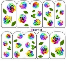 rainbow rose nail water decals only 99p  Worldwide shipping   #nails #naildesigns #nailart #nails2inspire #nailstagram #nailswag #notd #beauty #nailartdesigns #nailedit #summernails #nailsupplies #prettynails #flowernails