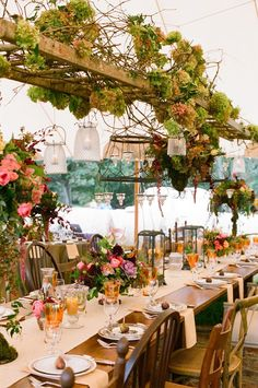 vines & wine vintage wedding hanging centerpiece ideas with ladders... imagine it at http://www.fernwoodcellars.com/visitus