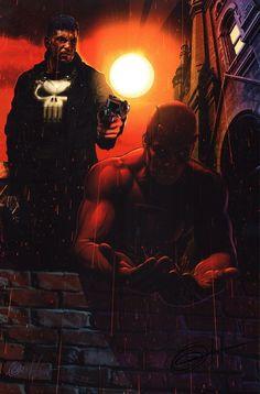 Greg Horn Signed Marvel Netflix Comic Art Print Daredevil The Punisher | eBay