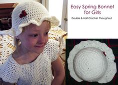 Easy Crochet Bonnet - Girls' Easter Hat in Crochet - Yahoo! Voices - voices.yahoo.com