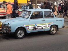 Former East German driving luxury #trabant