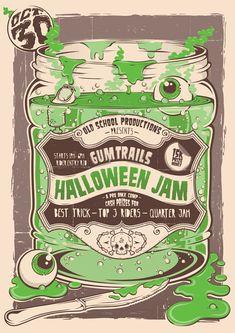 Halloween Jam Poster by Clement  de Bruin, via Behance