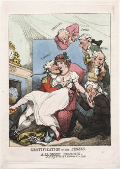 Gratification of the Sesnes a la mode francois Rowlandson 1800 Lewis Walpole Library Digital Collection