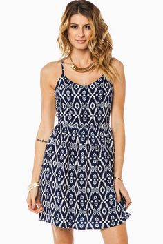 ShopSosie Style : Martinique Cutout Dress in Navy