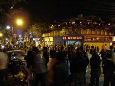 Esquina das ruas Juan León Mera e José Calama. O ponto alto do bairro bôemio de Quito - Foto: Silnei L Andrade   Mochila Brasil