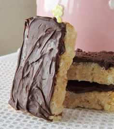 Rice crispy coconut bars.