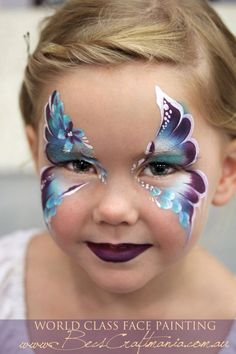 Becstar Anthony design pretty color combo face painting ideas for kids by patsy Eye Face Painting, Face Painting Designs, Paint Designs, Face Art, Tole Painting, Painting Tutorials, Face Paintings, Maquillage Halloween, Halloween Makeup