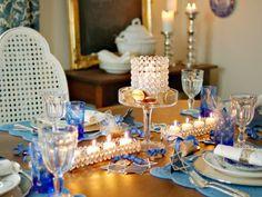 Decoracion velas y candelabros con acentos elegantes