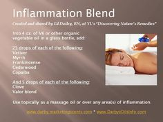 Young Living Essential Oils: Inflammation