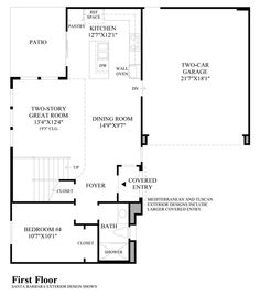 Toll Brothers Baker Ranch Parkview Zion Floor Plan - First Floor