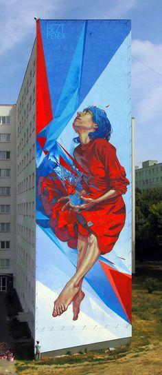 "Etam Cru Brightens City Walls With Epic Colorful Street Art Murals ""The Healer"""