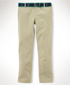 Everyone needs a pair of Chinos. Ralph Lauren Kids Pants, Little Girls Henley Chino Pants - Kids Girls 2-6X - Macy's $45.00 #MacysBTS