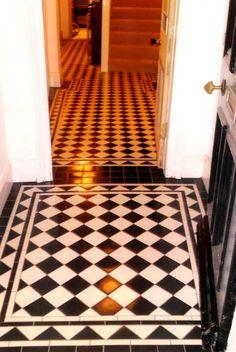 Victorian Tiles in hallway entrance